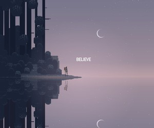 art, believe, and moon image