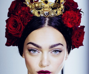 model, rose, and crown image