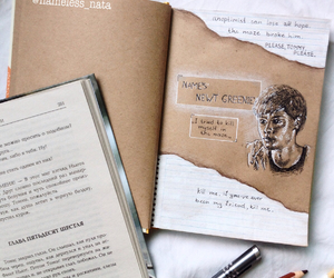art, book, and newt image
