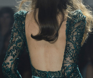 dress, elie saab, and green image