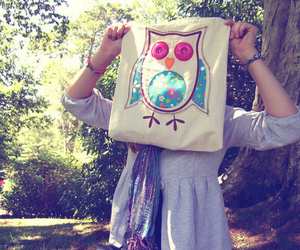 owl, cute, and girl image