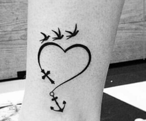 tattoo, anchor, and heart image
