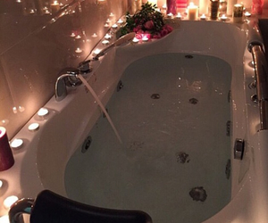 bath, candle, and romantic image