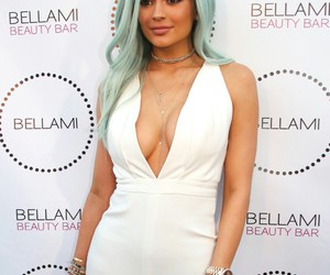kylie jenner, blue, and blue hair image