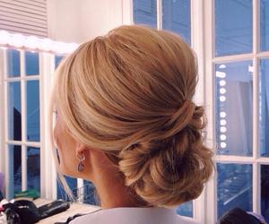 blonde and beautiful bun image