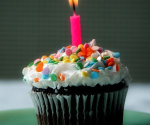 cupcake, cake, and candle image