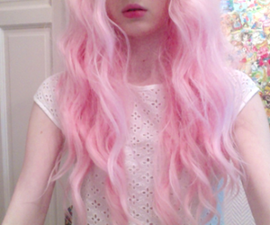 love, hair, and pink image
