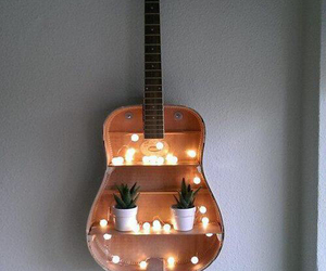 guitar, light, and diy image