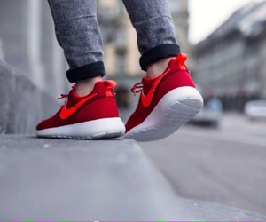 nike, red, and run image