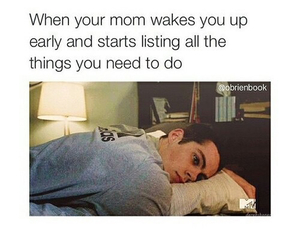 funny, teen wolf, and mom image