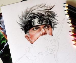 draw, hand draw, and kakashi image