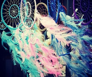 Dream, blue, and pink image