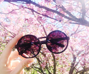 pink, glasses, and summer image