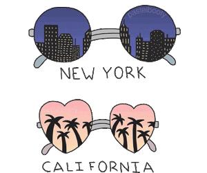 california, new york, and city image