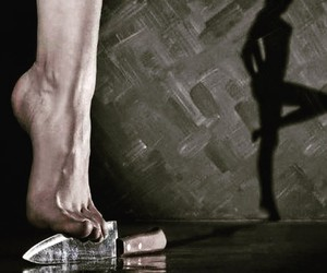 foot, knife, and shadow image