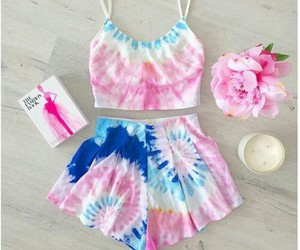 outfit, pink, and summer image