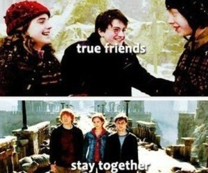 best friends and harry potter image