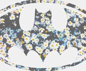 batman, flowers, and wallpaper image