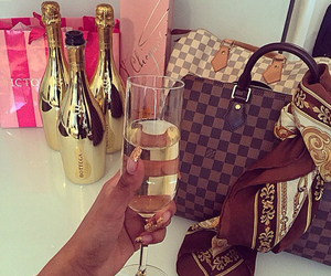 luxury, champagne, and Louis Vuitton image