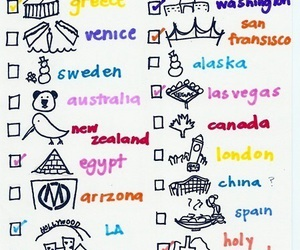 countries and bucket lists image