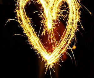 sparklers and love image