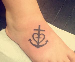 faith, girl, and tattoo image