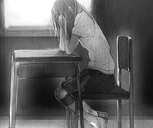anime, alone, and girl image
