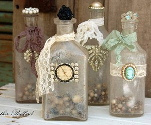 bottles, pretty, and vintage image