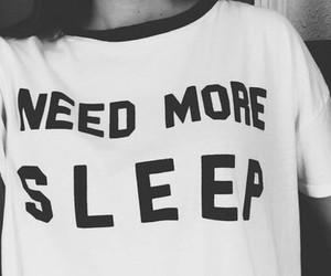 sleep, black and white, and need image