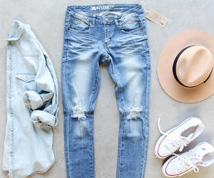 jeans, hat, and outfit image