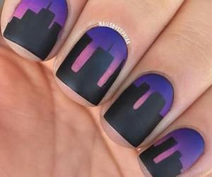 nails, black, and city image