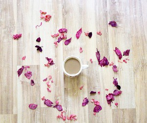 coffee, morning, and pink image