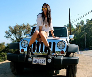car, girl, and jeep image