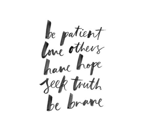 quote, brave, and love image