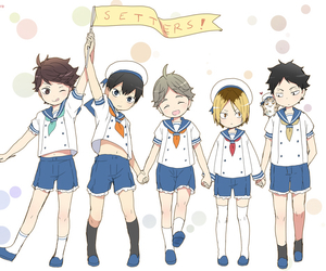 haikyuu, anime, and setters image