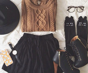 clothes, hat, and tumblr fashion image