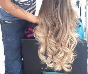 hair, blond, and girl image