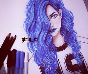 girl, girly_m, and art image