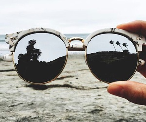 sunglasses, beach, and style image