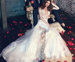 wedding, wedding dress, and couple image