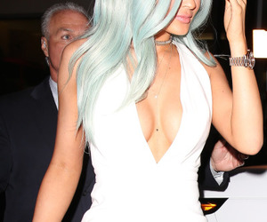 blue, hair, and kylie jenner image