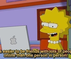 friends, lisa simpson, and simpsons image