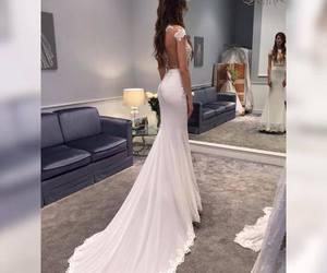 bride, wedding, and wedding gown image
