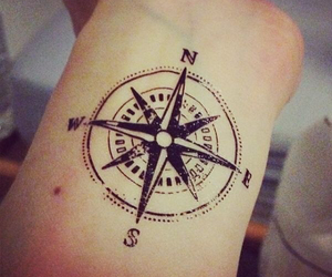 tattoo, compass, and art image