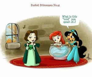 disney, pocket princesses, and ariel image