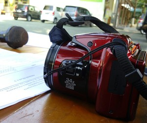 kamera, nikon, and red image