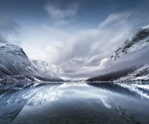 frozen, ice, and landscape image
