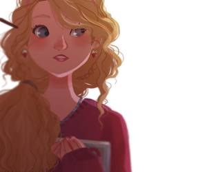 harry potter, luna lovegood, and art image