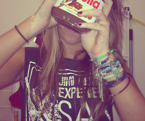 nutella and girl image