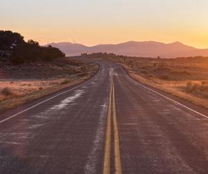 road, sun, and wallpaper image